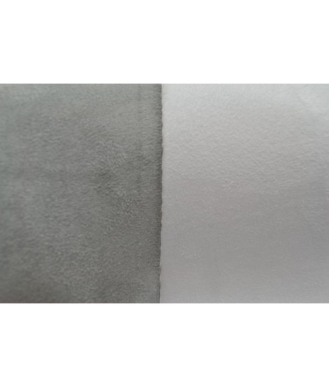 Suédine gris/blanc