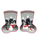 Bottes de noel red and grey christmas