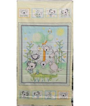 Makower OURS étiquettes petits panneaux de tissu 100/% Coton Matériau Craft Quilting