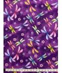 PATCH - Libellules fond violet