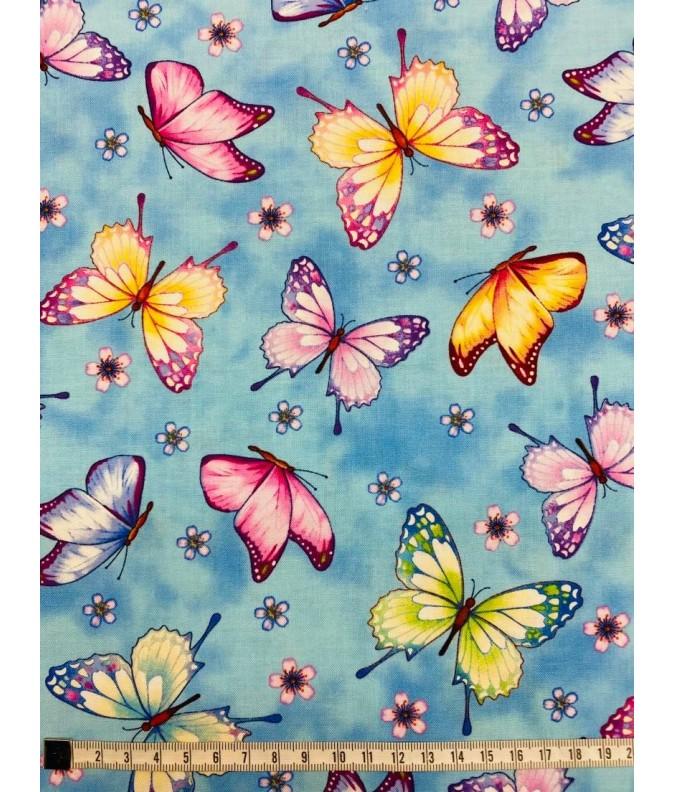 PATCH - Papillons fond bleu ciel
