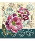 CARRÉ - Pivoines roses